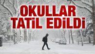 Aksaray'da beklenen kar tatili haberi geldi