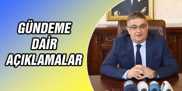 Vali Aykut Pekmez'den gündeme dair açıklamalar