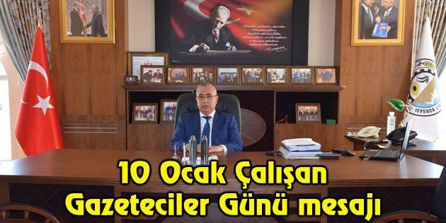 Başkan Özkök'ün, 10 Ocak Çalışan Gazeteciler Günü mesajı