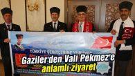 Gaziler'den Vali Aykut Pekmez'e anlamlı ziyaret