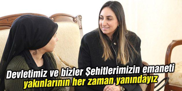 Yeşim Pekmez hanımefendi Şehit ailelerini ziyarete devam ediyor