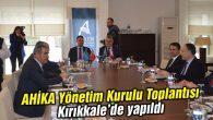 AHİKA Yönetim Kurulu Toplantısı yapıldı