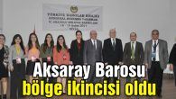 Aksaray Barosu bölge ikincisi oldu