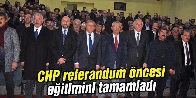 CHP referandum öncesi eğitimini tamamladı