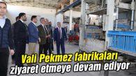 Vali Pekmez fabrikaları ziyaret etmeye devam ediyor