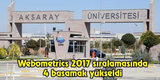 ASÜ Webometrics 2017 sıralamasında 4 basamak yükseldi