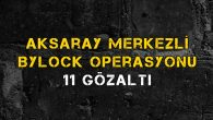 Aksaray merkezli ByLock operasyonu: 11 gözaltı