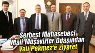 Serbest Muhasebeci Mali Müşavirler Odasından Vali Pekmez'e ziyaret