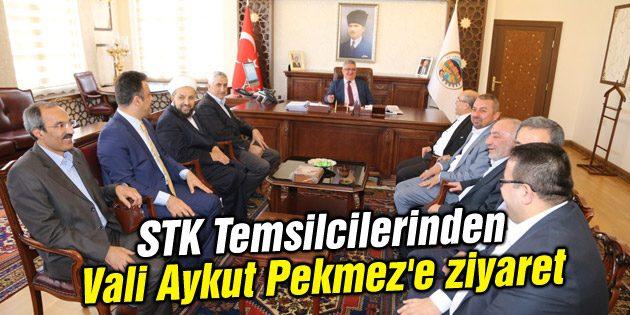 STK Temsilcilerinden Vali Aykut Pekmez'e ziyaret