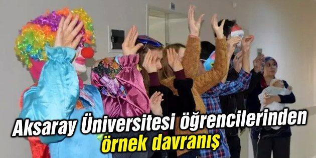 Aksaray Üniversitesi öğrencilerinden örnek davranış