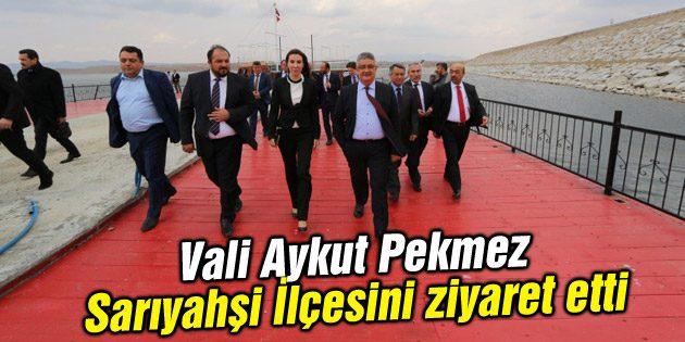 Vali Aykut Pekmez Sarıyahşi İlçesini ziyaret etti