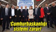 Bakan Elvan: Cumhurbaşkanlığı sistemi zaruri