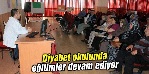Diyabet okulunda eğitimler devam ediyor
