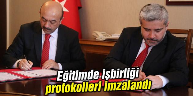 Eğitimde işbirliği protokolleri imzalandı