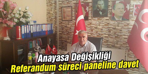 MHP'den Anayasa Değişikliği Süreci adlı panele davet