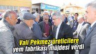 Vali Pekmez üreticilere yem fabrikası müjdesi verdi