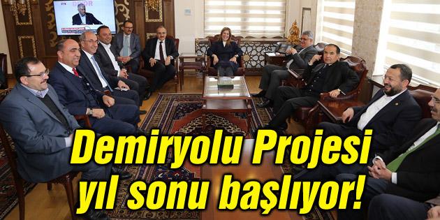 Demiryolu projesi yıl sonu başlıyor