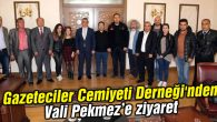 Aksaray Gazeteciler Cemiyeti Derneği'nden Vali Pekmez'e ziyaret