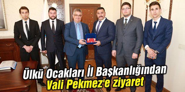 Ülkü Ocakları Aksaray İl Başkanlığından Vali Pekmez'e ziyaret