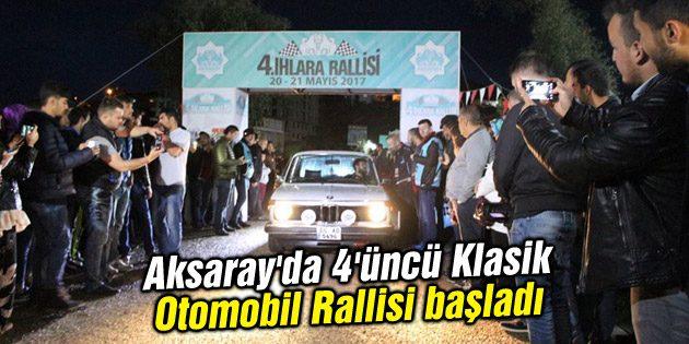 Aksaray'da 4'üncü Klasik Otomobil Rallisi başladı