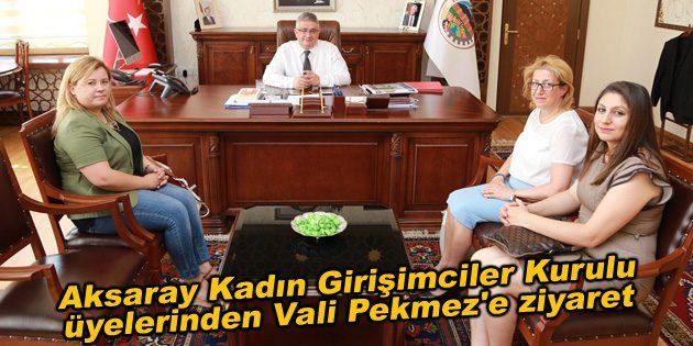 TOBB Aksaray Kadın Girişimciler Kurulu üyelerinden Vali Pekmez'e ziyaret