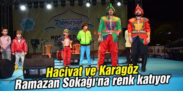 Hacivat ve Karagöz Ramazan Sokağı'na renk katıyor