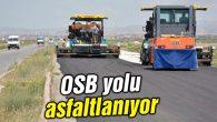 OSB yolu asfaltlanıyor