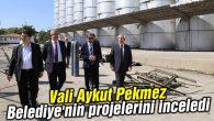 Vali Pekmez Belediye'nin projelerini inceledi