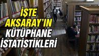 İşte Aksaray'daki halk kütüphanelerindeki kitap sayısı