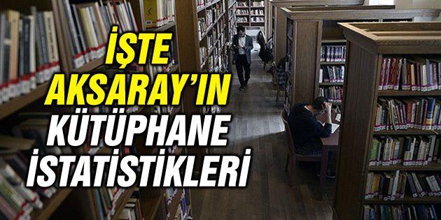 İşte Aksaray'da halk kütüphanelerindeki kitap sayısı