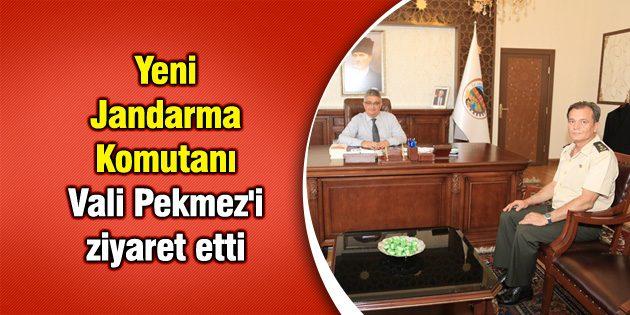 Yeni Jandarma Komutanı Vali Pekmez'i ziyaret etti