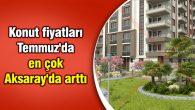 Konut fiyatları Temmuz'da en çok Aksaray'da arttı