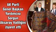 AK Parti Genel Başkan Yardımcısı Sorgun Aksaray Valiliğini ziyaret etti