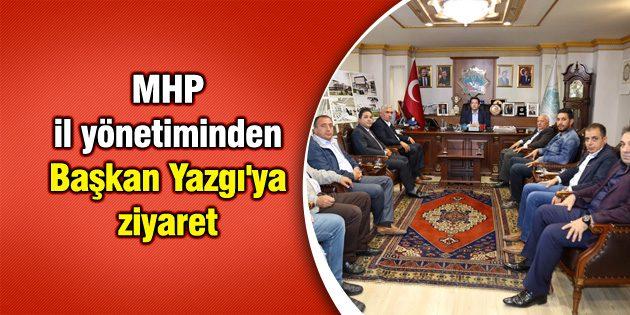 MHP il yönetiminden Başkan Yazgı'ya ziyaret