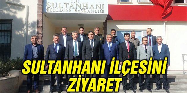 Vali Aykut Pekmez Sultanhanı ilçesini ziyaret etti