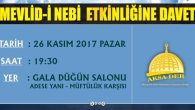 AKSA-DER'den Mevlid-i Nebi etkinliğine davet