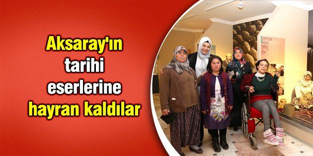 Aksaray'ın tarihi eserlerine hayran kaldılar