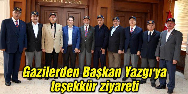 Gazilerden Başkan Yazgı'ya teşekkür ziyareti