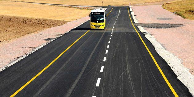 Aksaray'da yolların standardı artıyor