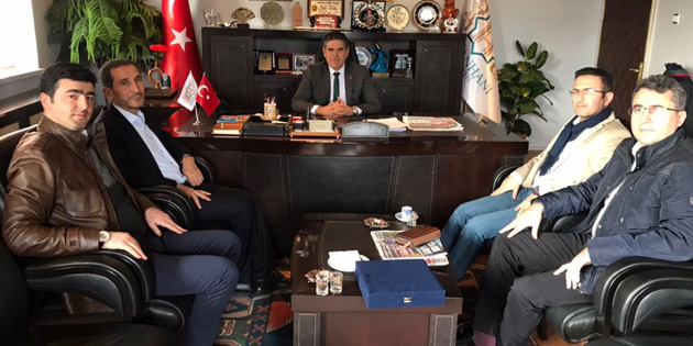 İlim Yayma Cemiyeti'nden Sultanhanı Kaymakamı ve Belediye Başkanına ziyaret