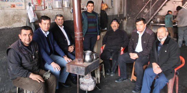 Ak Parti başkanlarından sanayi esnafına ziyaret