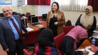 Halk Eğitim Kurslarına ziyaret