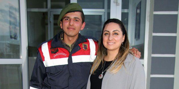 Jandarma Karakoluna anlamlı ziyaret