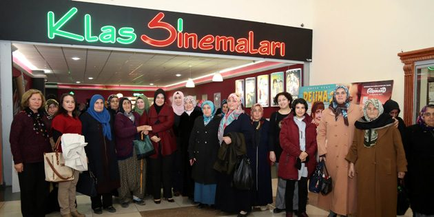 Kadınlara yönelik ücretsiz sinema ve moral etkinliği düzenlendi