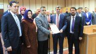 Ak Parti İl Başkanı Altınsoy mazbatasını aldı