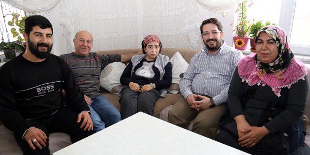 Şifanur davet etti, Başkan Yazgı misafir oldu
