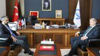 Bakan Danışmanı Abdullah Çalışkan Rektör Şahin'i ziyaret etti