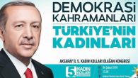AK Parti Aksaray Kadın Kolları kongresi gerçekleştiriliyor