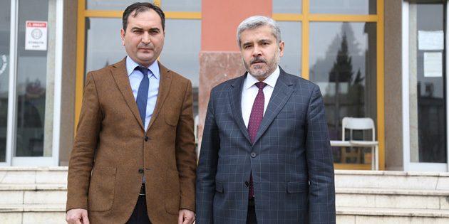 Rektör Şahin, Defterdar Arslan'ı ziyaret etti