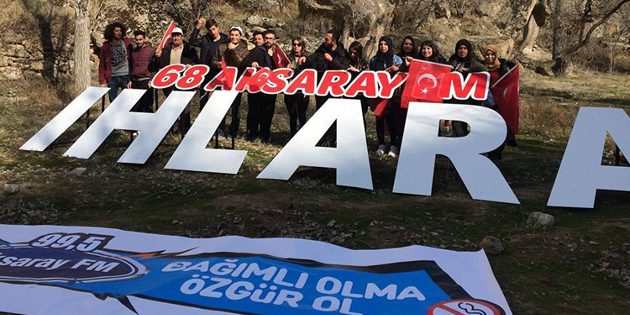 "Ihlara Vadisi'nde ""Bağımlı Olma Özgür Ol"" yürüyüşü"